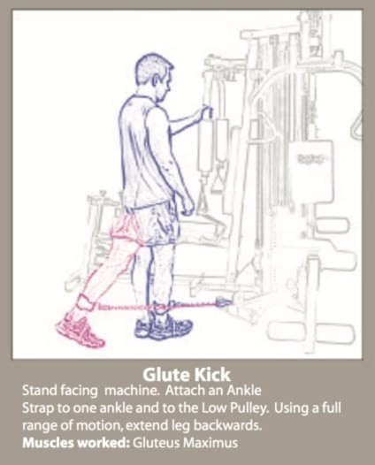 Glute Kicks On The BodyCraft Galena Pro In This Review