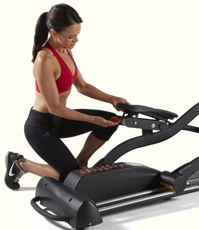 Sole Fitness E35 Review Woman Making Adjustment
