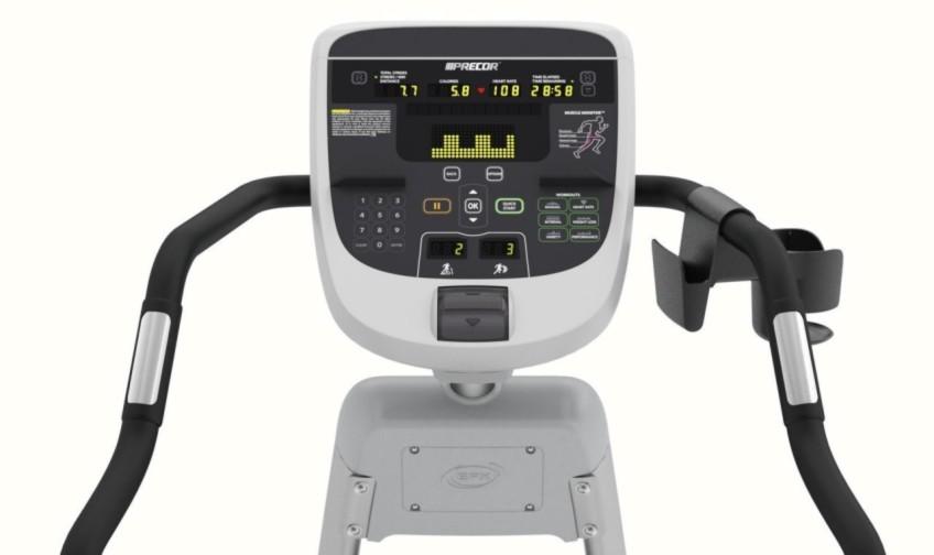 Console of Precor 833 Elliptical Trainer