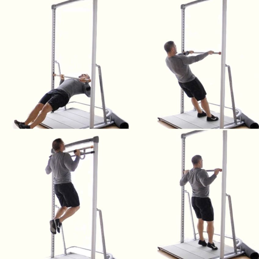 Range of Pull Up And Dip Exercises Using Body Weight With The Solostrength Ultimate
