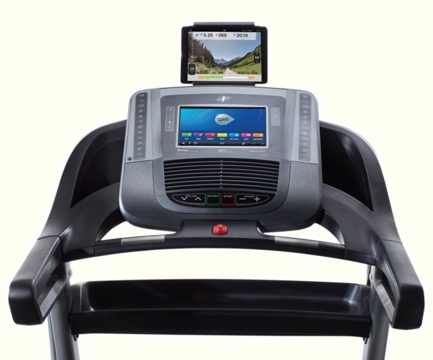 Control Panel Of the NordickTrCK C1650 BEST VALUE Treadmill For Home Gyms