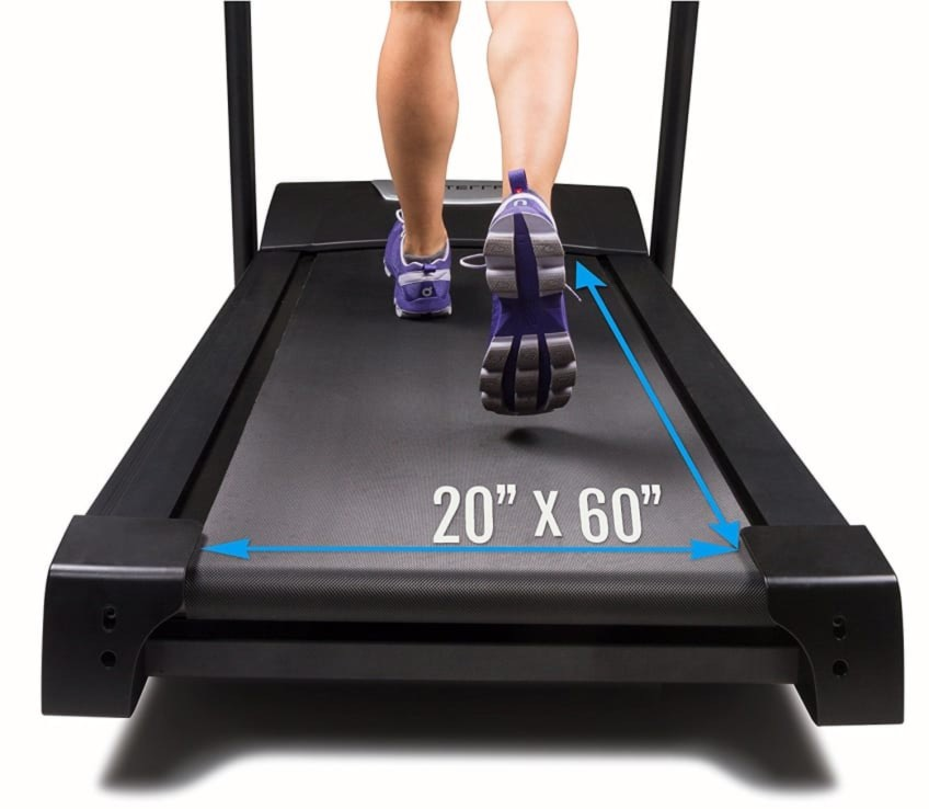 Wide And Long Rolling Track Of The TR600 Treadmill By Xterra Fitness
